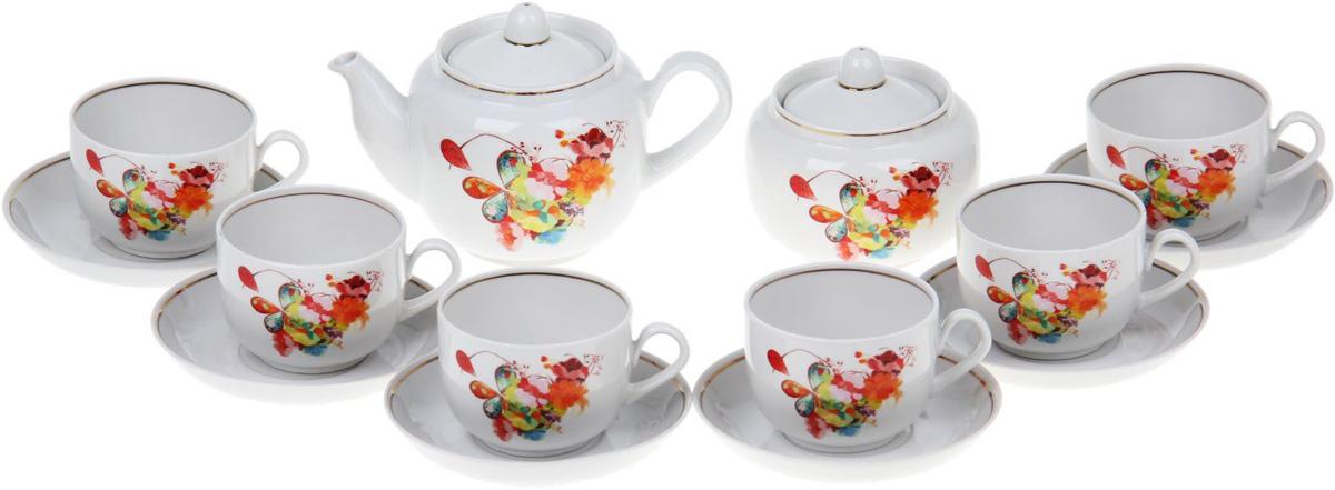 Сервиз чайный Фарфор Вербилок Капля полдня, 14 предметов. 1262781 чайная пара фарфор вербилок капля полдня 2 предмета 1259593