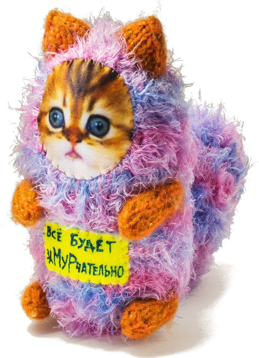Мягкая игрушка Бюро находок  Котик. Все будет замурчательно , цвет: розовый - Мягкие игрушки