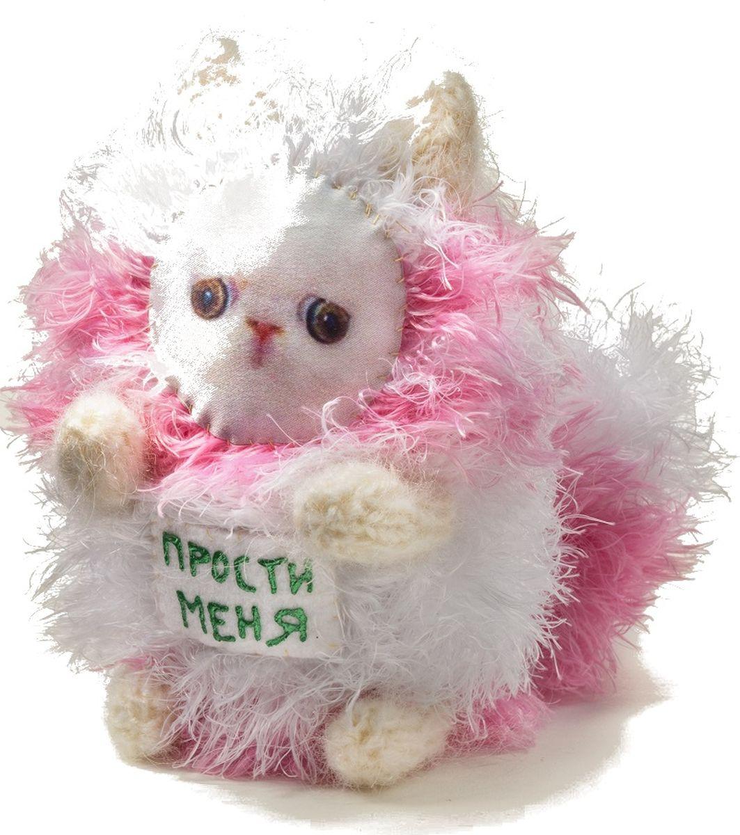 Мягкая игрушка Бюро находок Котик. Прости меня, цвет: белый мягкая игрушка бюро находок котик с деньгами ж цвет темно красный