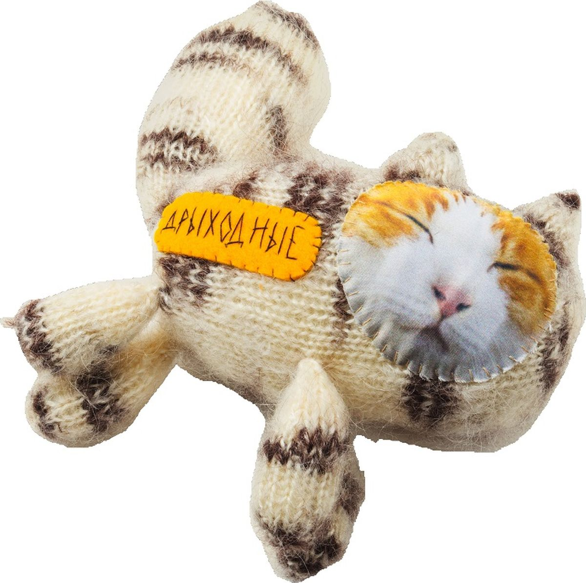 Мягкая игрушка Бюро находок  Котик. Дрыходные , цвет: желтый - Мягкие игрушки