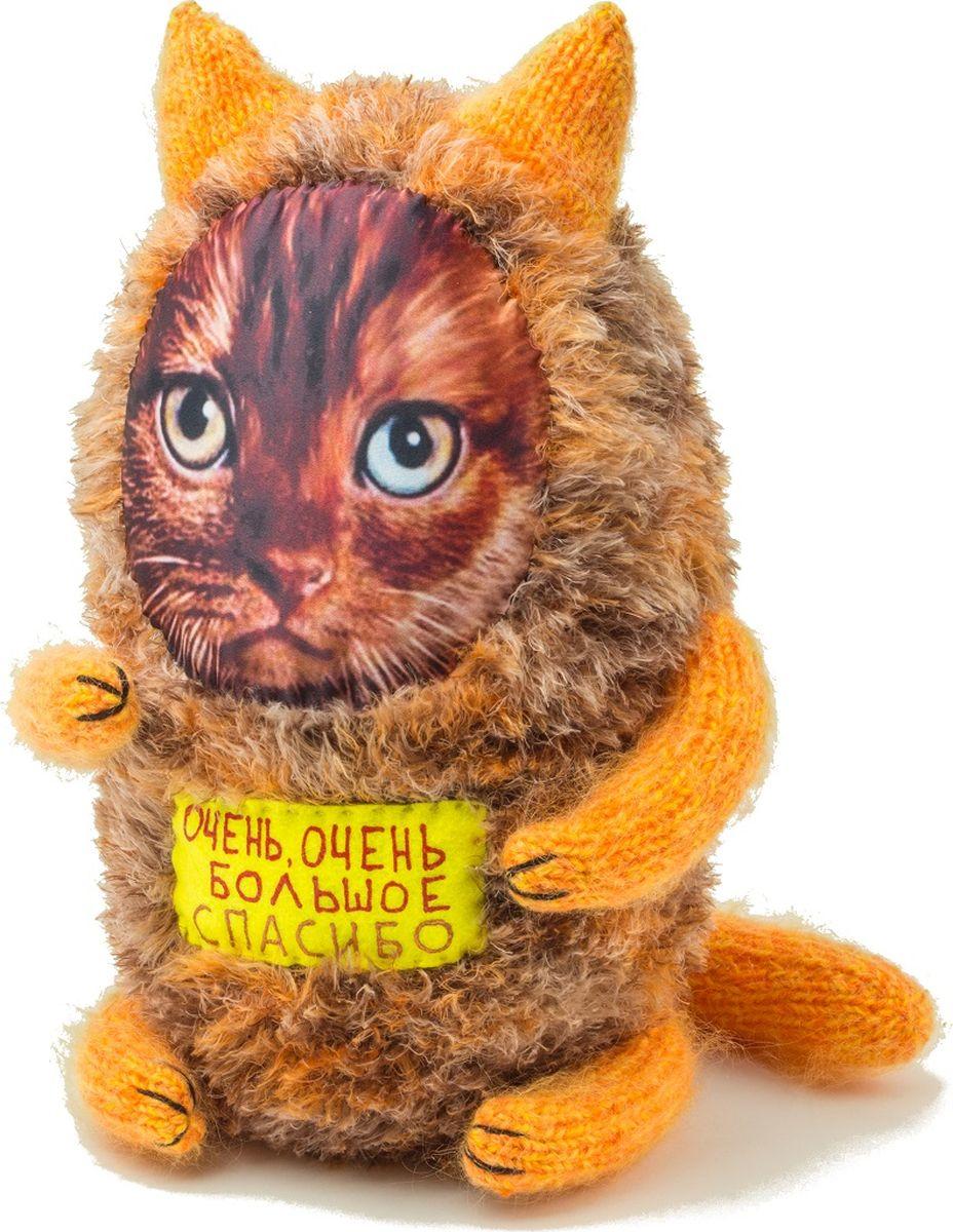 Мягкая игрушка Бюро находок Котик. Очень-очень большое спасибо, цвет: оранжевый мягкая игрушка бюро находок котик с деньгами ж цвет темно красный