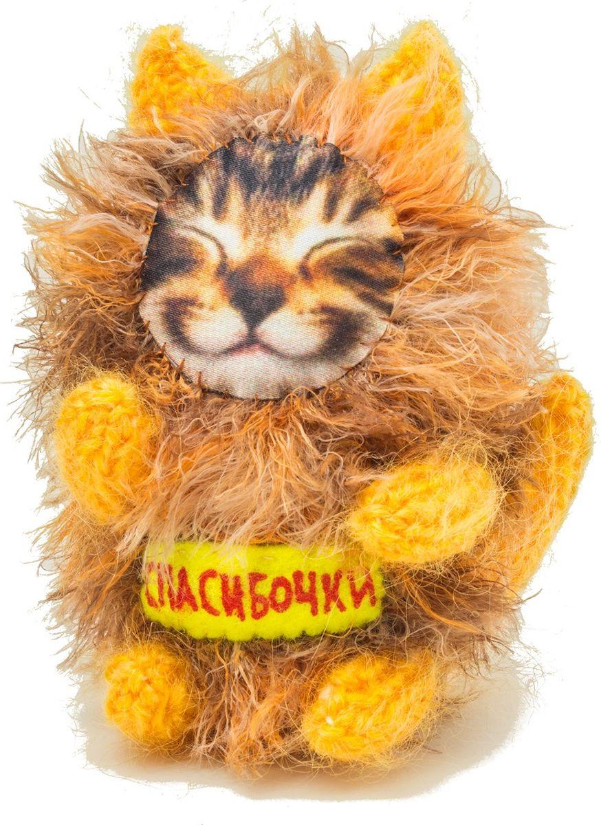 Мягкая игрушка Бюро находок Котик. Спасибочки, цвет: оранжевый мягкая игрушка бюро находок котик с деньгами ж цвет темно красный