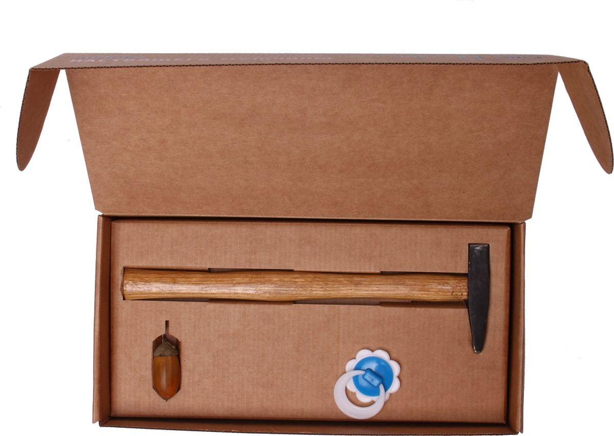 Сувенирный набор Бюро находок Набор Настоящего мужчины, цвет: светло-коричневый набор нивея для мужчин