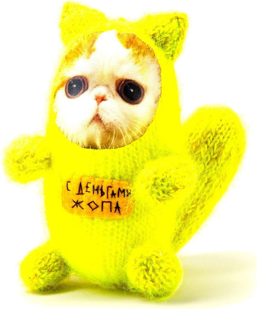 Мягкая игрушка Бюро находок Котик. С деньгами Ж, цвет: желтый мягкая игрушка бюро находок котик с деньгами ж цвет темно красный
