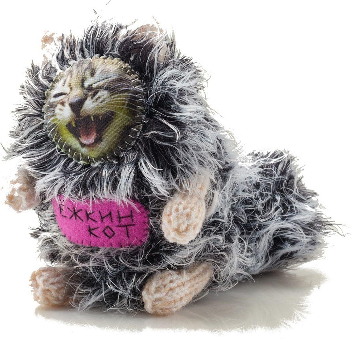 Мягкая игрушка Бюро находок  Котик. Ежкин кот , цвет: серный - Мягкие игрушки