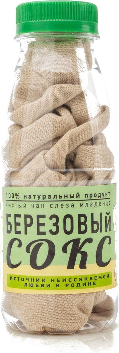 "Носки Бюро находок ""Березовый сокс. Лайт"", цвет: бежевый. Размер 25"
