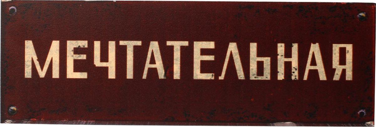 Табличка на дверь Бюро находок Мечтательная, цвет: коричневыйТК06Кабинетным работникам. Как кабинет назовешь, так он и поплывет.