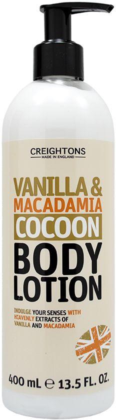 Creightons Лосьон для тела Успокаивающие ваниль и макадамия, 400 млCN6536Шикарные экстракты Ванили и Макадамии этого нежного кремового лосьона для тела увлажняют и питают Вашу кожу, делая ее мягкой и придавая ей приятный аромат.