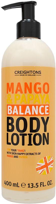 Creightons Лосьон для тела Увлажняющие манго и папайя, 400 млCN6538Лосьон для тела на основе экзотической смеси фруктов Манго и Папайи освежит Вашу кожу, сделает ее мягкой и поможет восстановить ее водный баланс.