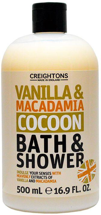 Creightons Гель для душа Успокаивающие ваниль и макадамия, 500 млCN6676Пробудите свои чувства с помощью великолепных экстрактов ванили и макадамии, и нежной кремовой текстуры этого геля для душа.
