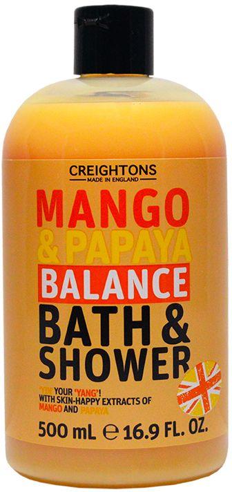 Creightons Гель для душа Увлажняющие манго и папайя, 500 мл00-00000362Подарите своей коже заряд бодрости и помогите ей восстановить водный баланс с помощью экстрактов Манго и Папайи.