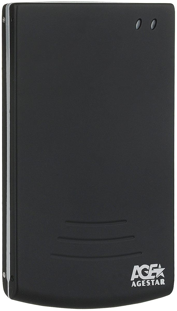AgeStar SUB2O5, Black Silver внешний корпус для 2.5 HDD/SSD сифон o range silver matte am 210a