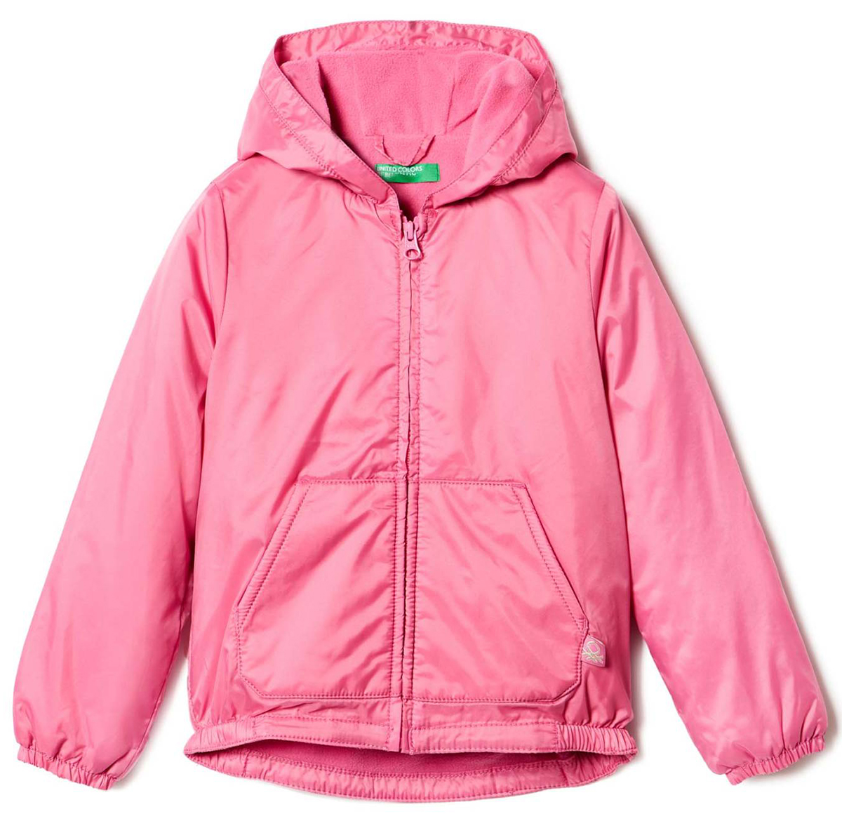 Куртка для девочки United Colors of Benetton, цвет: розовый. 2BL553AS0_2L8. Размер 822BL553AS0_2L8Куртка для девочки United Colors of Benetton выполнена из полиамида. Модель с капюшоном застегивается на застежку-молнию.