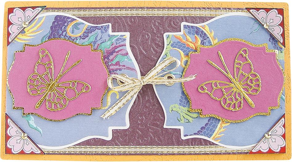 Конверт-открытка Студия Тетя роза Бабочки. ОРАЗ-0029 ою 0002 открытка конверт с юбилеем студия тётя роза