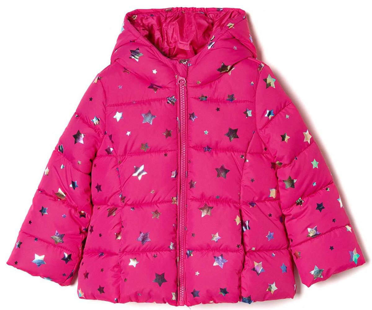 Куртка для девочек United Colors of Benetton, цвет: розовый. 2DC4531XP_902. Размер 1102DC4531XP_902