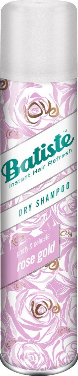 Batiste Rose Gold сухой шампунь, 200 мл504026Batiste Party – сухой шампунь со сладким ароматом, витающим в воздухе перед грандиозной вечеринкой, предназначен для быстрого придания волосам свежести, объема и структурности. Лучший парфюмерный ансамбль для предстоящей party преобразит Ваши волосы и дарит им WOW эффект! Его действие не отличаются от оригинального шампуня, но это настоящая находка для тех, кто особенно трепетно относится к запахам и любит порадовать себя новыми сочетаниями.
