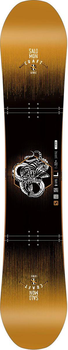 Сноуборд Salomon Craft Rtl, цвет: черный, оранжевый, 156 см. L39942000L39942000Доска для фристайла Craft RTL с профилем Rock Out Camber и проверенные временем технологии Salomon делают эту доску идеальной для любого препятствия.