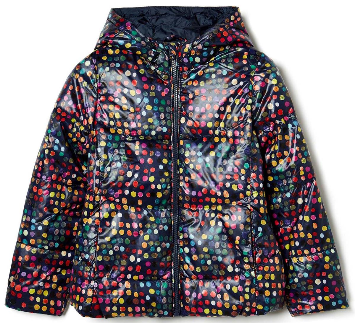 Куртка для девочки United Colors of Benetton, цвет: мультиколор. 2DZR53AM0_902. Размер 1302DZR53AM0_902Куртка для девочки United Colors of Benetton выполнена из полиэстера. Модель с капюшоном застегивается на застежку-молнию.