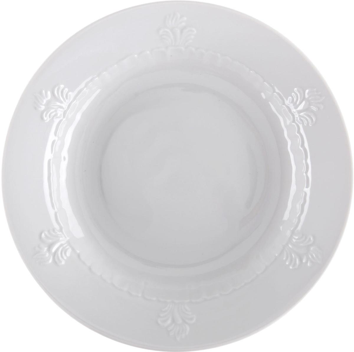 Тарелка глубокая Фарфор Вербилок, диаметр 23,5 см. 13441341344134От качества посуды зависит не только вкус еды, но и здоровье человека. Тарелка - товар, соответствующий российским стандартам качества. Любой хозяйке будет приятно держать его в руках. С такой посудой и кухонной утварью приготовление еды и сервировка стола превратятся в настоящий праздник.