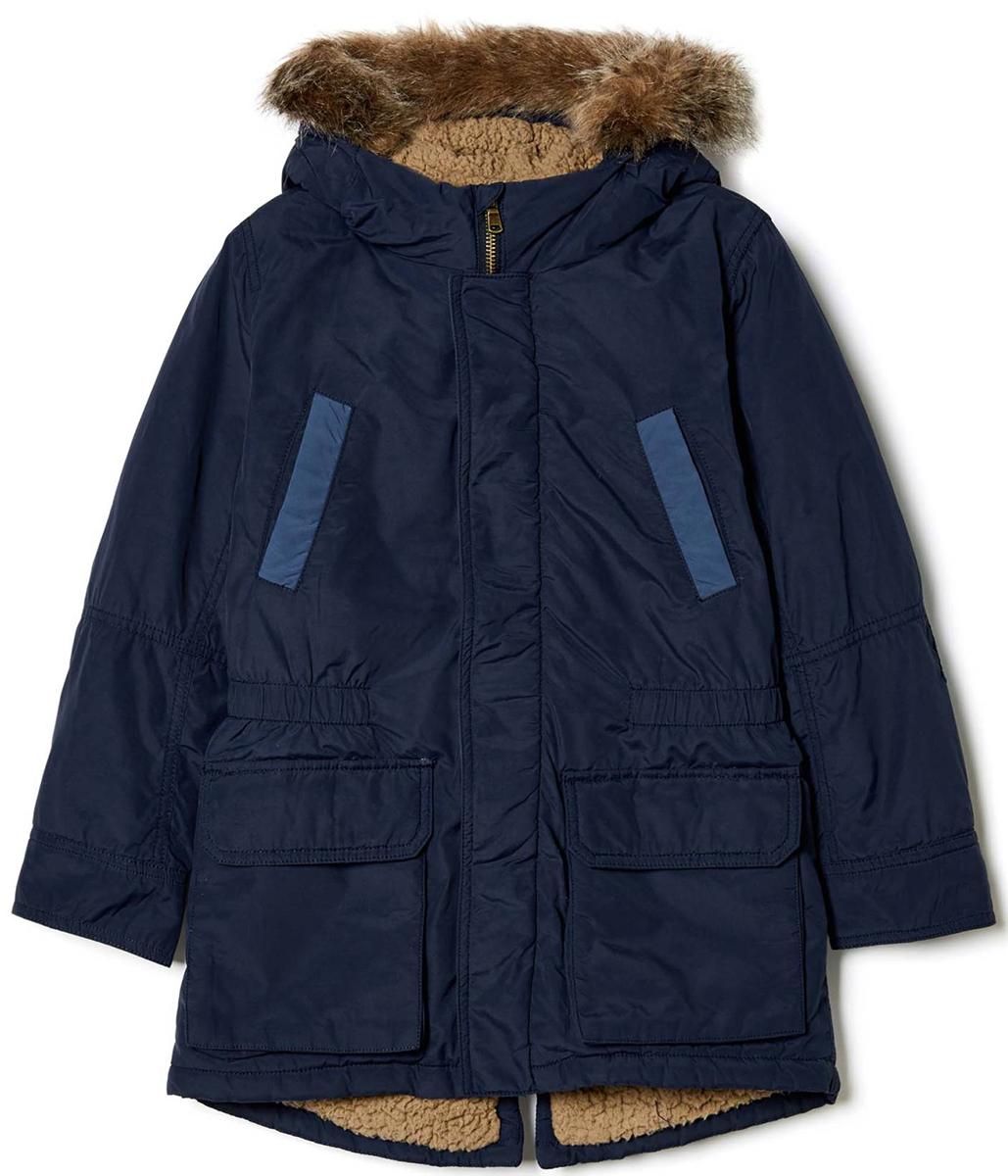 Куртка для мальчика United Colors of Benetton, цвет: синий. 2EO253B90_13C. Размер 1702EO253B90_13CКуртка для мальчика United Colors of Benetton выполнена из нейлона и хлопка. Модель с капюшоном и длинными рукавами застегивается на комбинированную застежку.