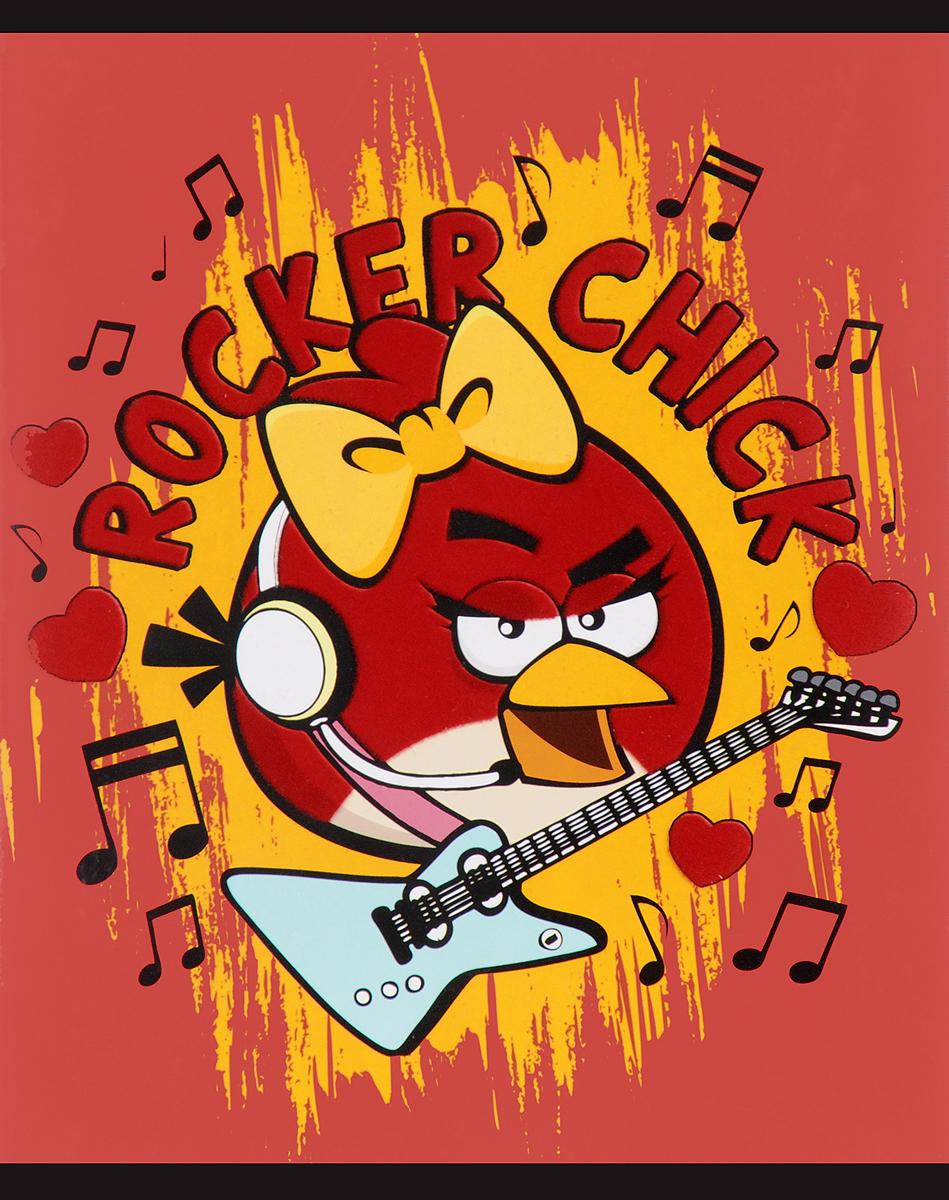Hatber Тетрадь Angry Birds 48 листов в клетку цвет красный оранжевый48Т5флB1_11827Тетрадь Hatber Angry Birds отлично подойдет для занятий школьнику или студенту.Обложка, выполненная из плотного картона, позволит сохранить тетрадь в аккуратном состоянии на протяжении всего времени использования.Внутренний блок тетради, соединенный скрепками, состоит из 48 листов белой бумаги в голубую клетку с полями красного цвета.