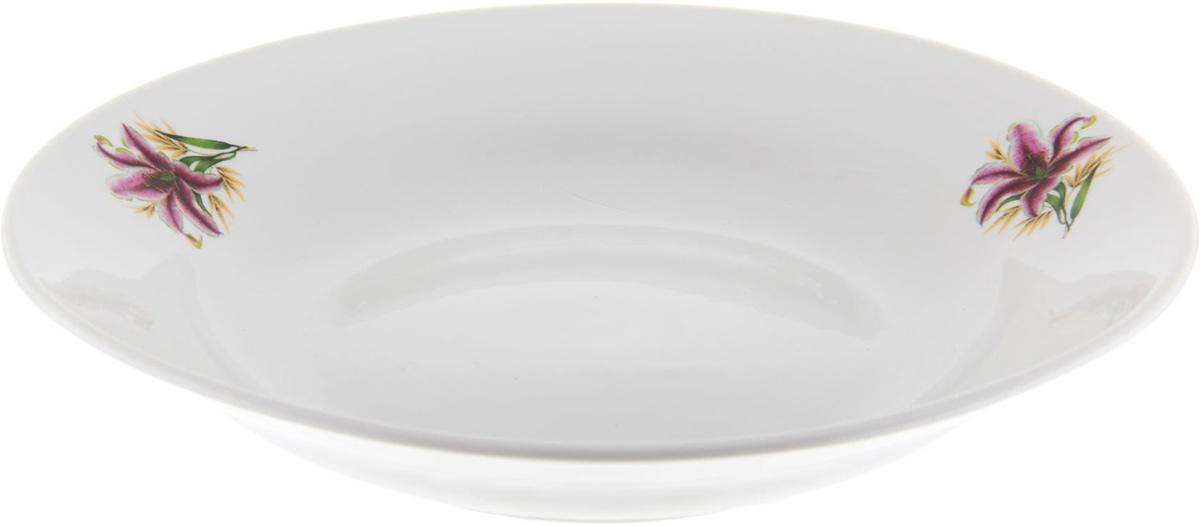 Тарелка глубокая Фарфор Вербилок Розовая лилия, диаметр 23,5 см. 12628011262801От качества посуды зависит не только вкус еды, но и здоровье человека. Тарелка - товар, соответствующий российским стандартам качества. Любой хозяйке будет приятно держать его в руках. С такой посудой и кухонной утварью приготовление еды и сервировка стола превратятся в настоящий праздник.