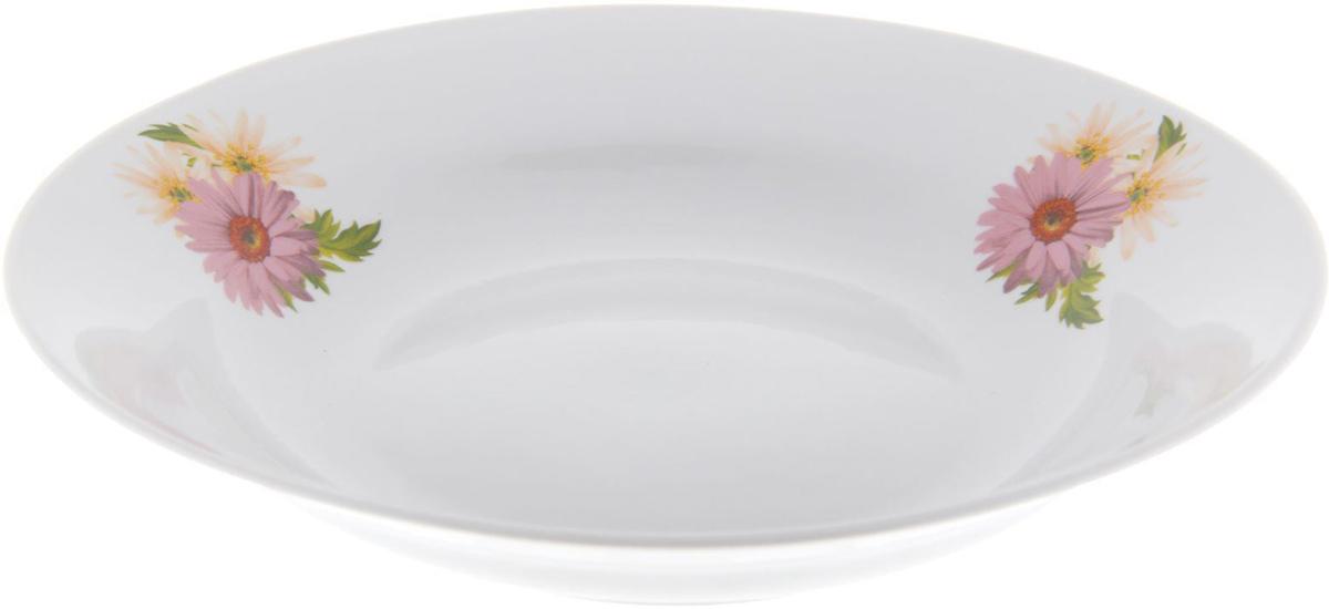 Тарелка глубокая Фарфор Вербилок Розовые герберы, диаметр 23,5 см. 12628051262805От качества посуды зависит не только вкус еды, но и здоровье человека. Тарелка - товар, соответствующий российским стандартам качества. Любой хозяйке будет приятно держать его в руках. С такой посудой и кухонной утварью приготовление еды и сервировка стола превратятся в настоящий праздник.