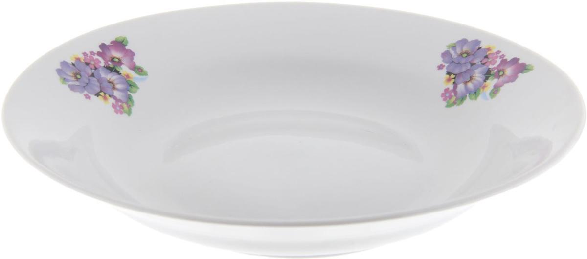 Тарелка глубокая Фарфор Вербилок Фиалка, диаметр 23,5 см. 12628081262808От качества посуды зависит не только вкус еды, но и здоровье человека. Тарелка - товар, соответствующий российским стандартам качества. Любой хозяйке будет приятно держать его в руках. С такой посудой и кухонной утварью приготовление еды и сервировка стола превратятся в настоящий праздник.