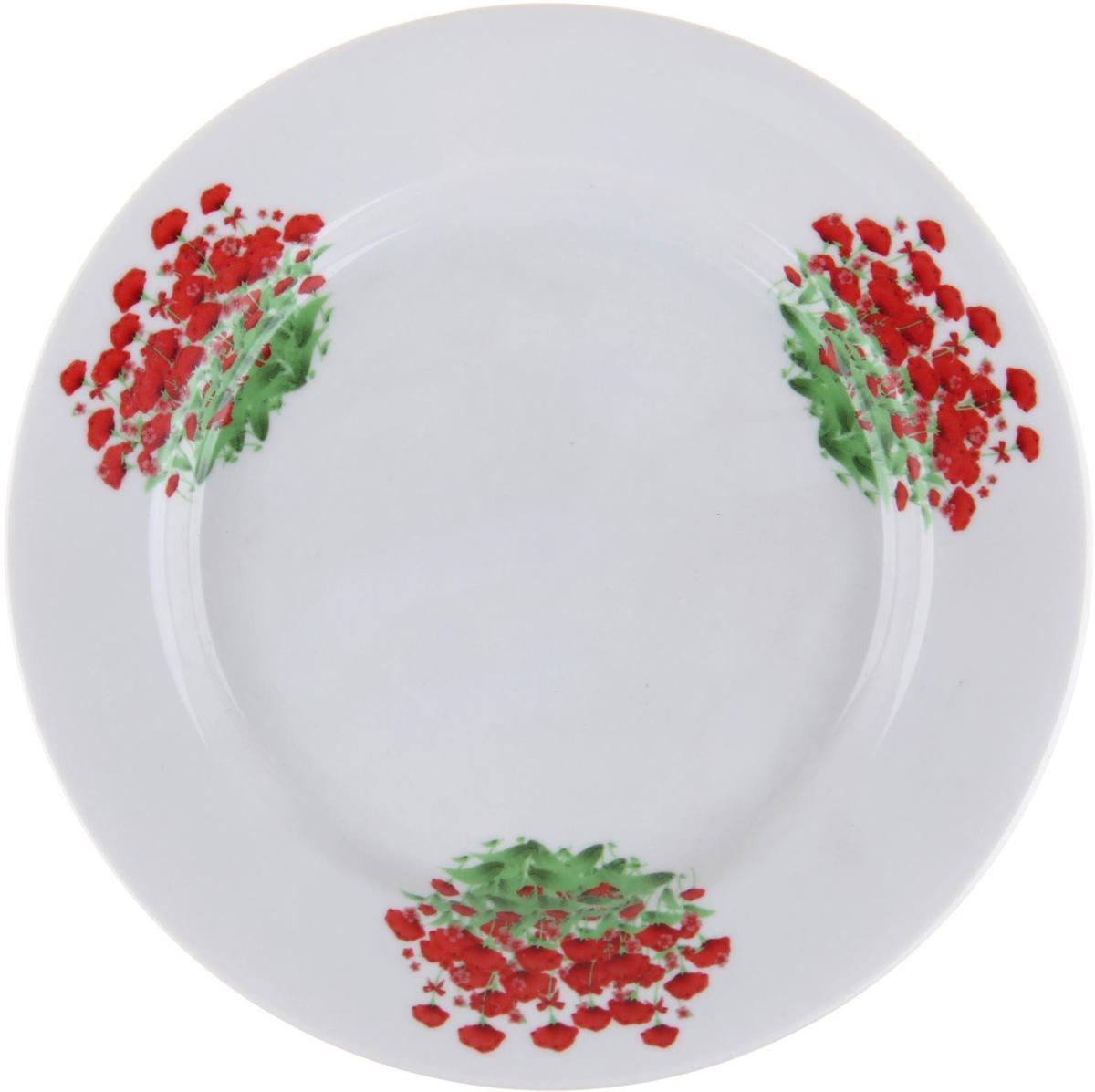 Тарелка мелкая Фарфор Вербилок Альпийский луг, диаметр 20 см. 12627901262790От качества посуды зависит не только вкус еды, но и здоровье человека. Тарелка - товар, соответствующий российским стандартам качества. Любой хозяйке будет приятно держать его в руках. С такой посудой и кухонной утварью приготовление еды и сервировка стола превратятся в настоящий праздник.