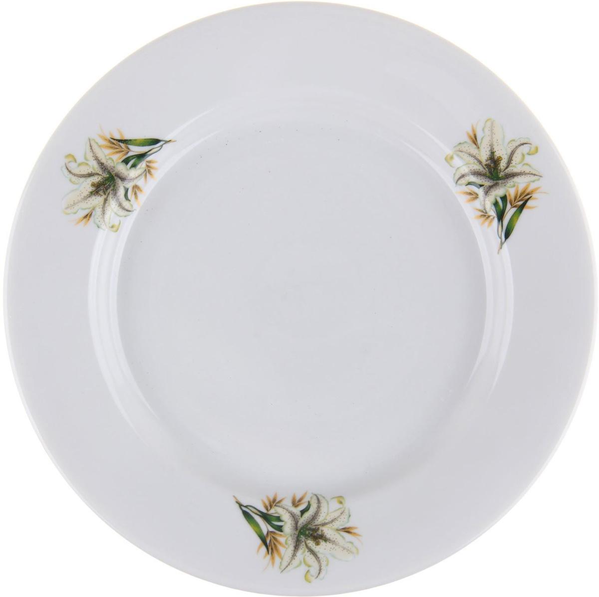 Тарелка мелкая Фарфор Вербилок Белая лилия, диаметр 20 см. 10168221016822От качества посуды зависит не только вкус еды, но и здоровье человека. Тарелка - товар, соответствующий российским стандартам качества. Любой хозяйке будет приятно держать его в руках. С такой посудой и кухонной утварью приготовление еды и сервировка стола превратятся в настоящий праздник.