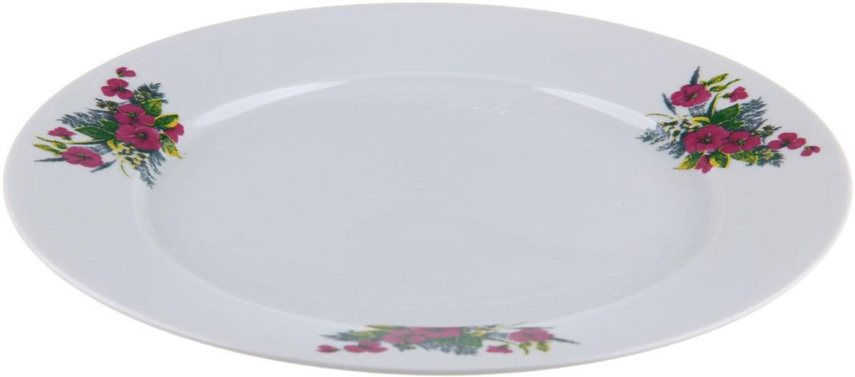 Тарелка мелкая Фарфор Вербилок Виола, диаметр 24 см. 12627951262795От качества посуды зависит не только вкус еды, но и здоровье человека. Тарелка - товар, соответствующий российским стандартам качества. Любой хозяйке будет приятно держать его в руках. С такой посудой и кухонной утварью приготовление еды и сервировка стола превратятся в настоящий праздник.
