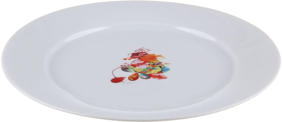 Тарелка мелкая Фарфор Вербилок Капля полдня, диаметр 24 см. 12630361263036От качества посуды зависит не только вкус еды, но и здоровье человека. Тарелка - товар, соответствующий российским стандартам качества. Любой хозяйке будет приятно держать его в руках. С такой посудой и кухонной утварью приготовление еды и сервировка стола превратятся в настоящий праздник.
