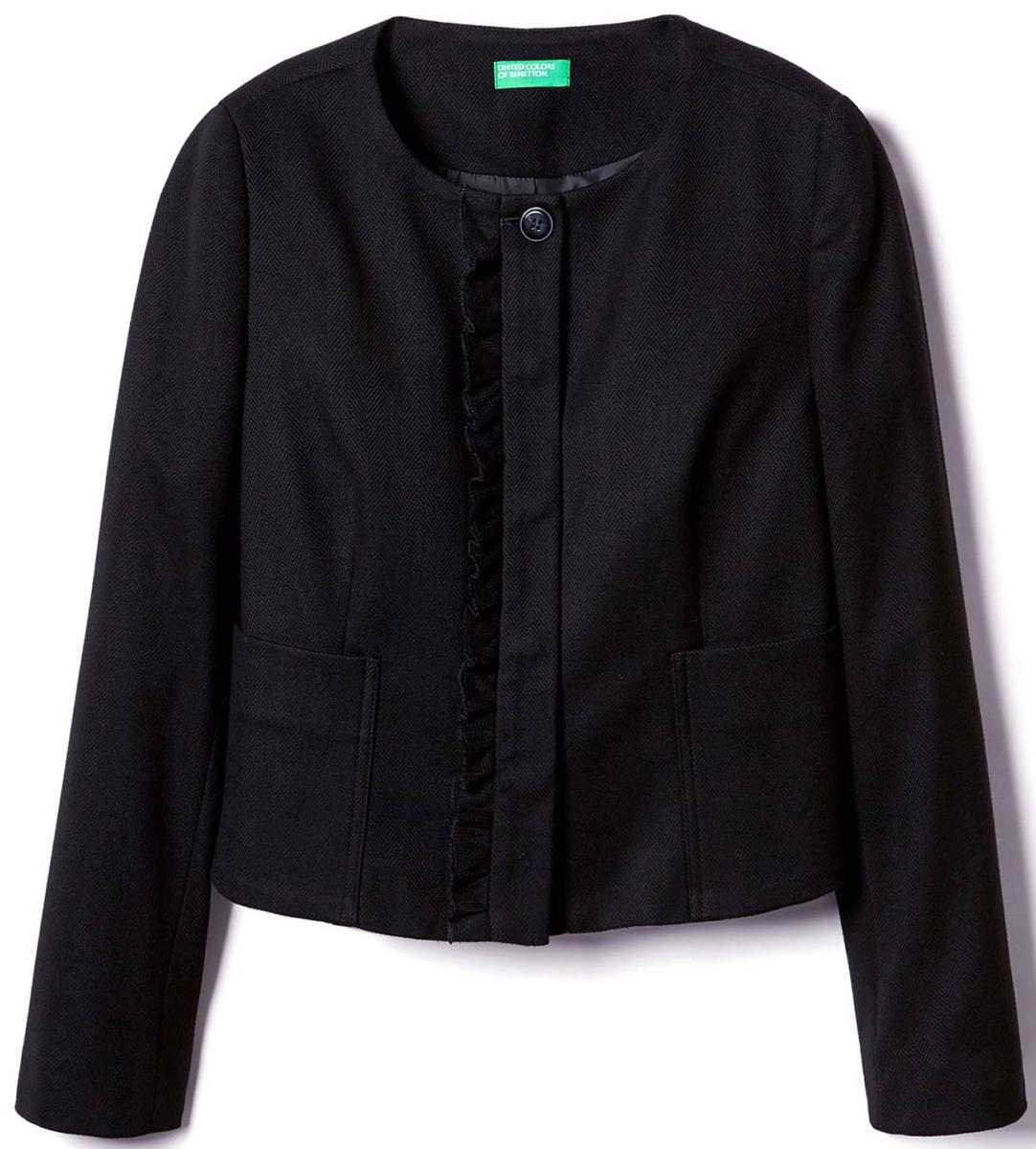 Пиджак жен United Colors of Benetton, цвет: черный. 2UR7522C3_100. Размер 38 (40)2UR7522C3_100