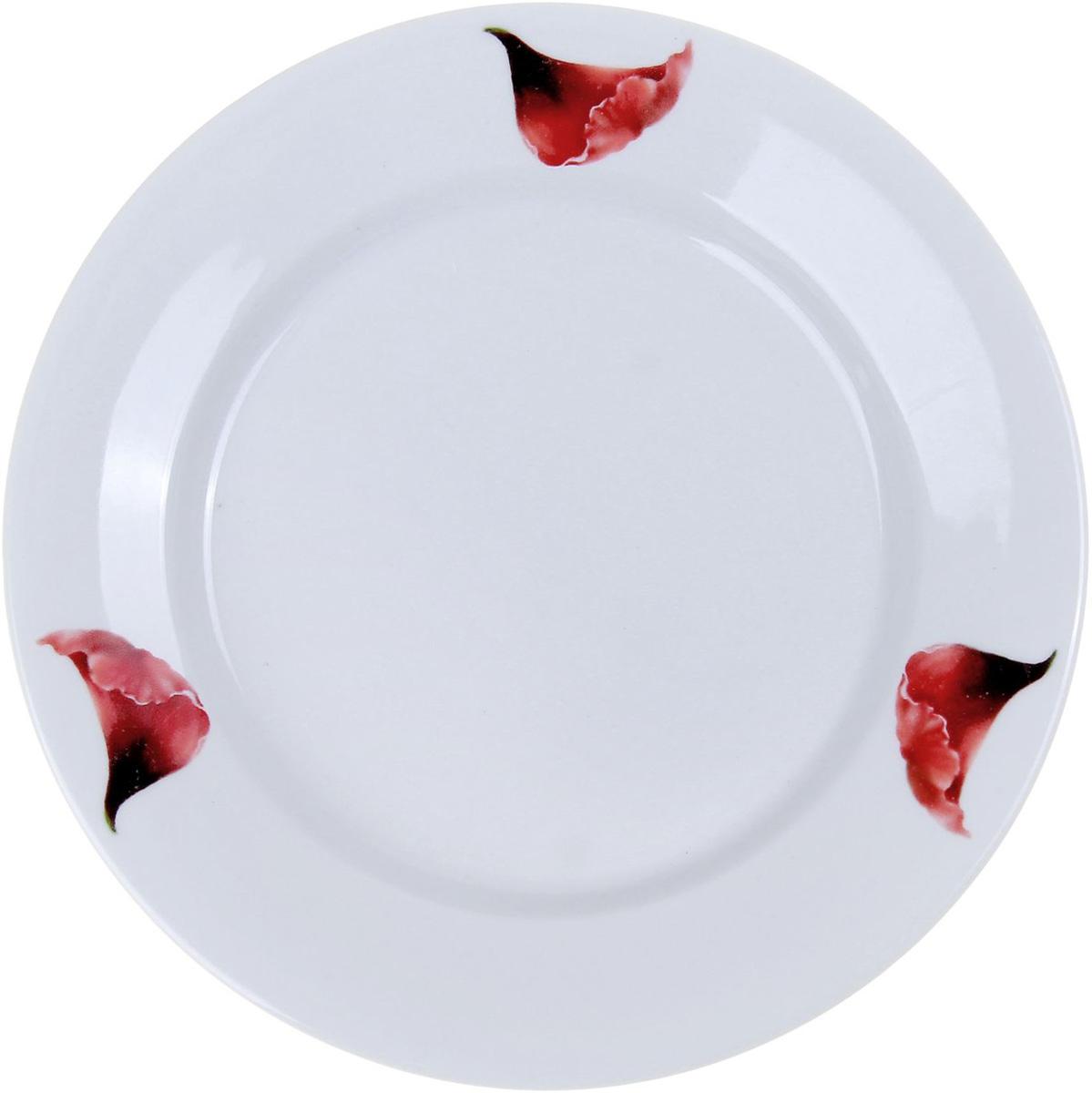 Тарелка мелкая Фарфор Вербилок Маков цвет, диаметр 20 см. 10168251016825От качества посуды зависит не только вкус еды, но и здоровье человека. Тарелка - товар, соответствующий российским стандартам качества. Любой хозяйке будет приятно держать его в руках. С такой посудой и кухонной утварью приготовление еды и сервировка стола превратятся в настоящий праздник.