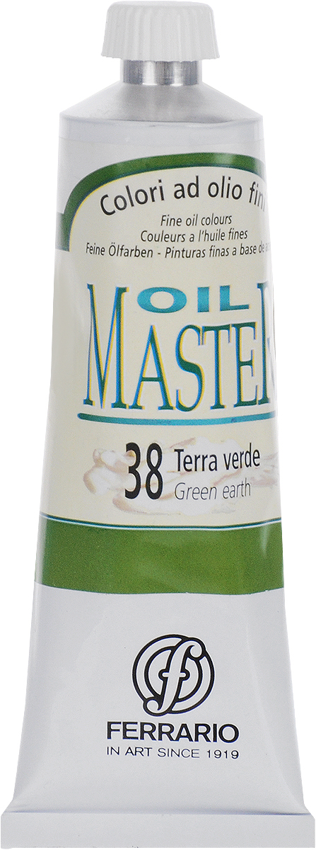 Ferrario Краска масляная Oil Master цвет №38 земляной зеленыйAM0030CO038Масло Oil Master итальянской компании Ferrario подходит как начинающим художникам, так и профессионалам. Краска изготавливается из светостойких пигментов мелкого помола. Благодаря тому, что некоторые натуральные пигменты были заменены на аналоги краски серии Oil Master стали более доступны по цене. Светостойкие краски отлично лессируются и хорошо смешиваются между собой. Краску можно разбавлять льняным маслом, терпентином или нефтяными разбавителями. В работе с красками используют кисти из щетины, синтетики и волоса колонка.