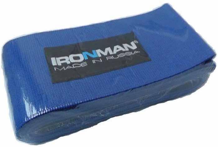 Страховка атлетическая Ironman, жесткая, для колена, 2 м4650069823636Специальные атлетические бинты для предохранения суставов и связок от травм во время занятий в зале. Бинты крайне необходимы, как в спорте, так и в фитнесе, особенно на силовых тренировках с максимальными нагрузками. Они обеспечивают большую прочность и безопасность, за счёт «Компрессионной обмотки эластичных связок и сухожилий. Своей эластичной фиксацией вокруг сустава, они стабилизируют работающую конечность, страхуя её от растяжений и разрывов, во время выполнения упражнения. Бинты изготовлены из высококачественных материалов, которые удобны и безопасны в эксплуатации. Рекомендуем использовать их только при выполнении «рабочих подходов», а между ними снимать, дабы не нарушить нормального кровотока периферических кровеносных сосудов.