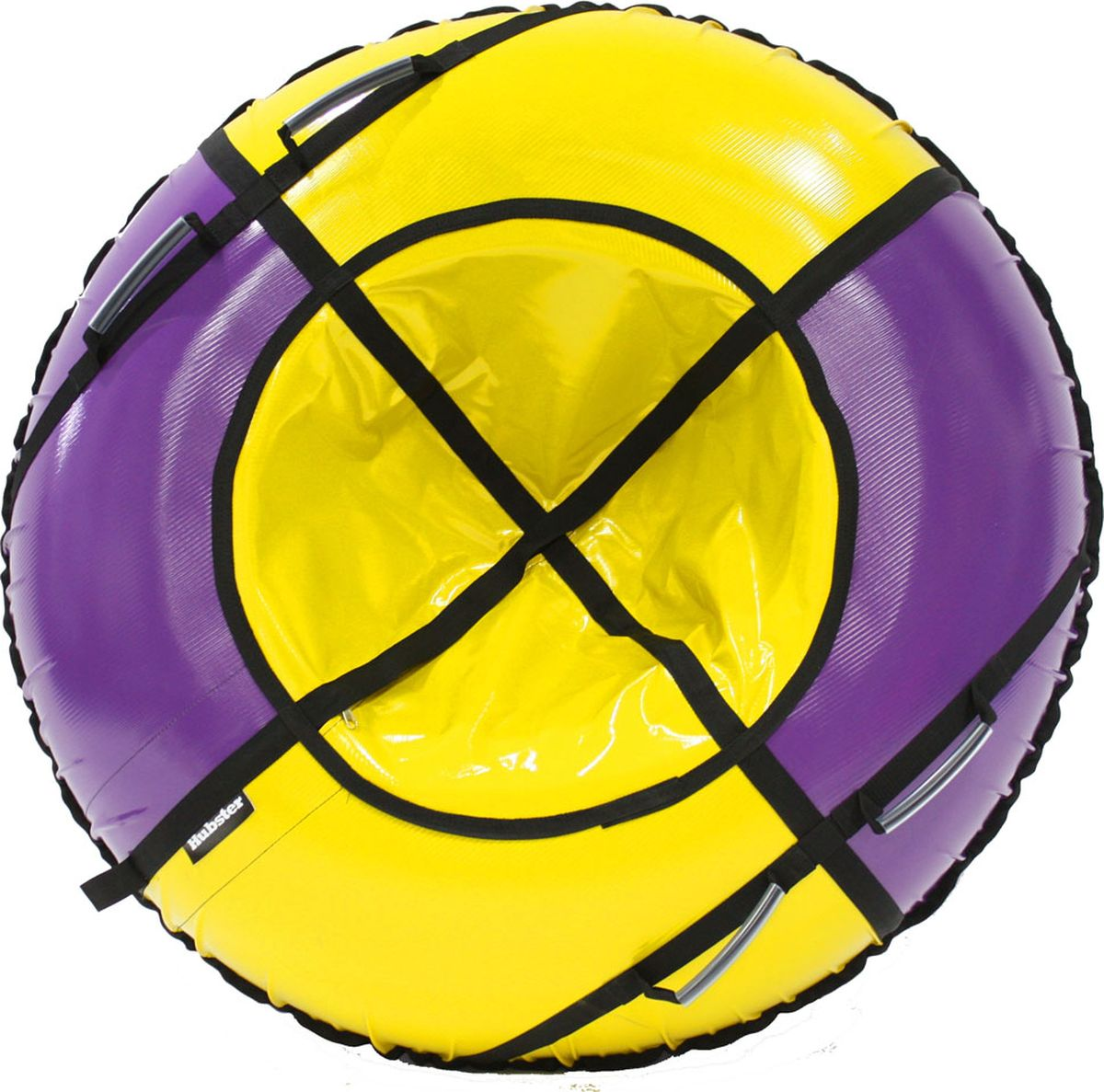 Тюбинг Hubster Sport Plus, цвет: фиолетовый, желтый, диаметр 90 смво4186-3Любимая детская зимняя забава - это кататься с горки. А катание на тюбинге надолго запомнится вам и вашим близким. Свежий воздух, веселая компания, веселые развлечения - эти моменты вы будете вспоминать еще долгое время. Материал верха - ПВХ армированный, плотность 650 г/м.Материал дна - ПВХ (усиленная скользкая ткань), плотность 650 г/м.Диаметр в сдутом виде - 90 см.Диаметр в надутом виде - 79 см.Ручки усиленные (нашиты на дополнительную стропу).Кол-во ручек - 90 см - 2 шт. Молния скрытая, на сиденье.Крепление троса - наружная петля.Длина троса - 1 метр.Нагрузка - 90 см - до 80 кг.Комплект поставки - ватрушка, трос, камера.Тюбинг не предназначен для буксировки механическими или транспортными средствами (подъемники, канатные дороги, лебедки, автомобиль, снегоход, квадроцикл и т.д.)