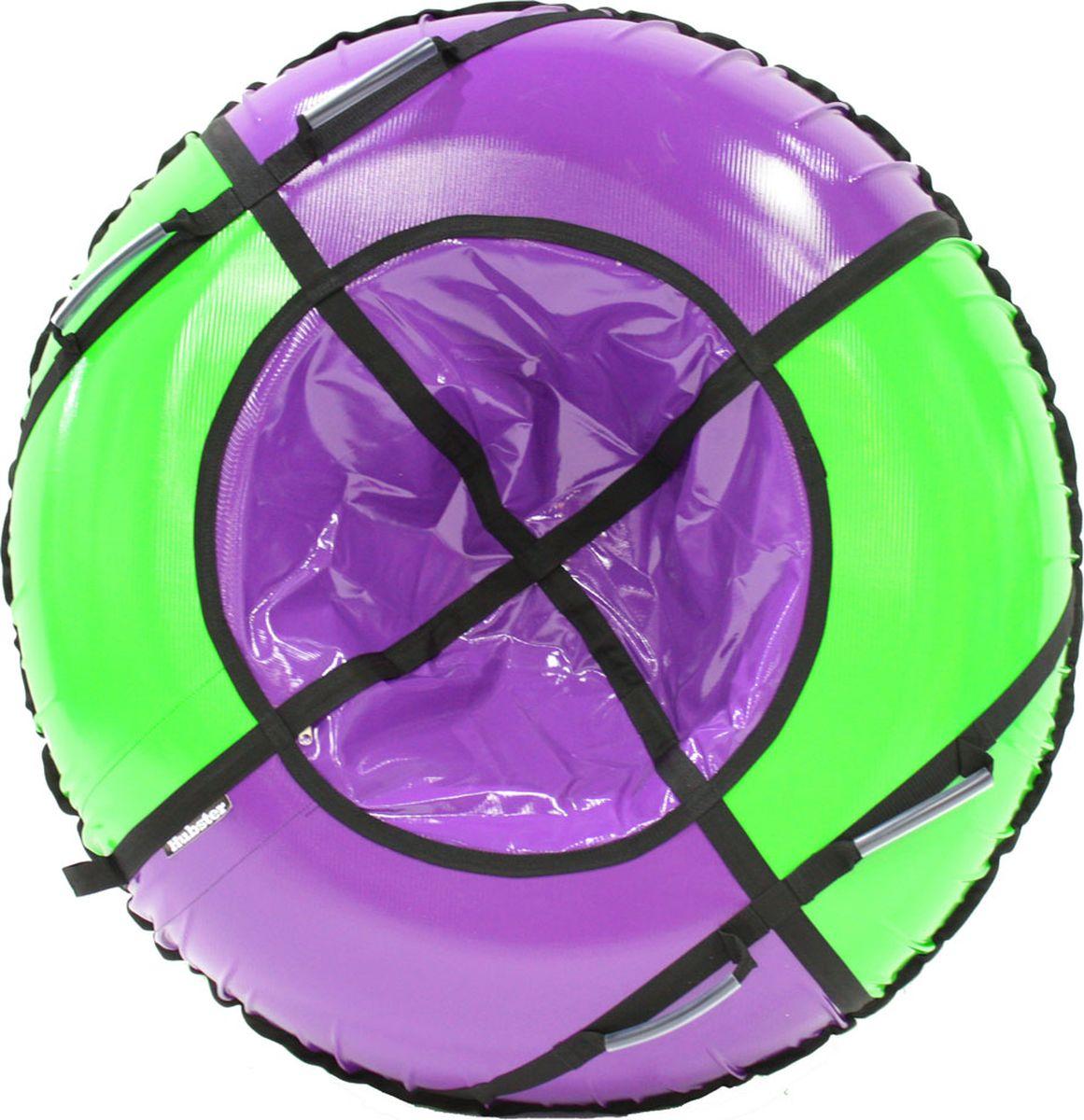 Тюбинг Hubster Sport Plus, цвет: фиолетовый, зеленый, диаметр 120 смво4189-2Любимая детская зимняя забава - это кататься с горки. А катание на тюбинге надолго запомнится вам и вашим близким. Свежий воздух, веселая компания, веселые развлечения - эти моменты вы будете вспоминать еще долгое время. Материал верха - ПВХ армированный, плотность 650 гр./м .Материал дна - ПВХ (усиленная скользкая ткань), плотность 650 гр./м.Диаметр в сдутом виде - 120 см.Диаметр в надутом виде - 109 см.Ручки усиленные (нашиты на дополнительную стропу).Кол-во ручек - 4 шт. Молния скрытая, на сиденье.Крепление троса - наружная петля.Длина троса - 1 метр.Нагрузка - до 150 кг.Комплект поставки - ватрушка, трос, камера.Тюбинг не предназначен для буксировки механическими или транспортными средствами (подъемники, канатные дороги, лебедки, автомобиль, снегоход, квадроцикл и т.д.)