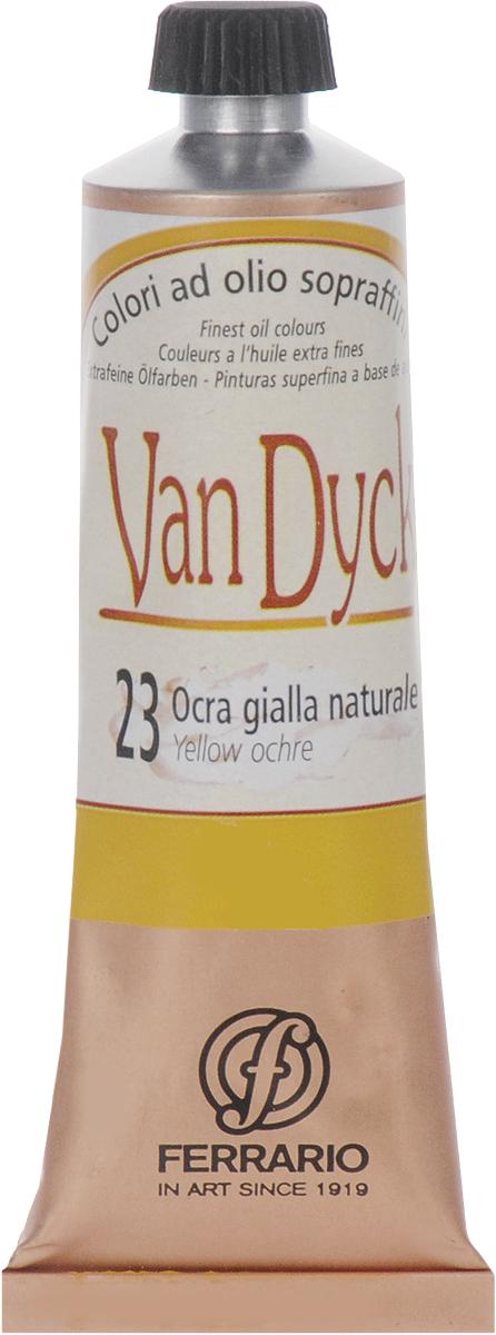 Ferrario Краска масляная Van Dyck цвет №23 охра желтаяAV0017CO23Масляные краски серии Van Dyck итальянской компании Ferrario изготавливаются из натуральных мелко тертых пигментов с добавлением качественного связующего материала. Благодаря этому масляные краски Van Dyck обладают превосходной светостойкостью, чистотой цветов и оттенков. Краски можно разбавлять льняным маслом, терпентином или нефтяными разбавителями. Все цвета хорошо смешиваются между собой.В серии масляных красок Van Dyck представлено 87 различных оттенков, а также 6 металлических оттенков.