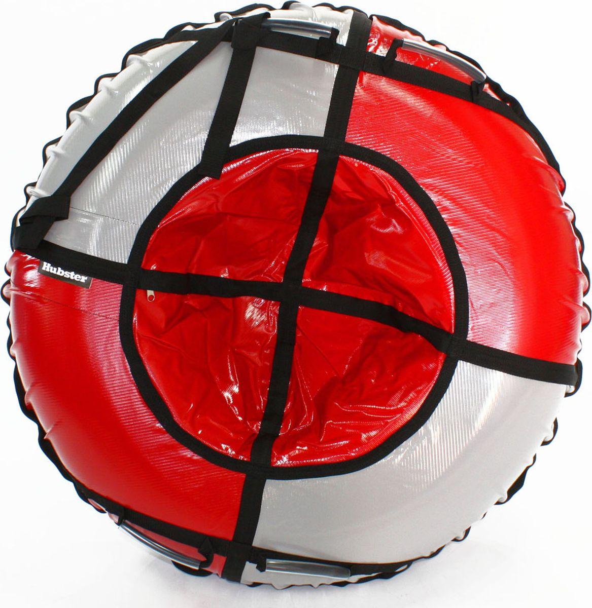 Тюбинг Hubster Sport Plus, цвет: красный, серый, диаметр 105 смво4192-1Любимая детская зимняя забава - это кататься с горки. А катание на тюбинге надолго запомнится вам и вашим близким. Свежий воздух, веселая компания, веселые развлечения - эти моменты вы будете вспоминать еще долгое время. Материал верха - ПВХ армированный, плотность 650 г/м .Материал дна - ПВХ (усиленная скользкая ткань), плотность 650 г/м.Диаметр в сдутом виде - 105 см.Диаметр в надутом виде - 94 см.Ручки усиленные (нашиты на дополнительную стропу)Кол-во ручек - 4 шт. Молния скрытая, на сиденье.Крепление троса - наружная петля.Длина троса - 1 метр.Нагрузка - до 120 кг.Комплект поставки - ватрушка, трос, камера.Тюбинг не предназначен для буксировки механическими или транспортными средствами (подъемники, канатные дороги, лебедки, автомобиль, снегоход, квадроцикл и т.д.)