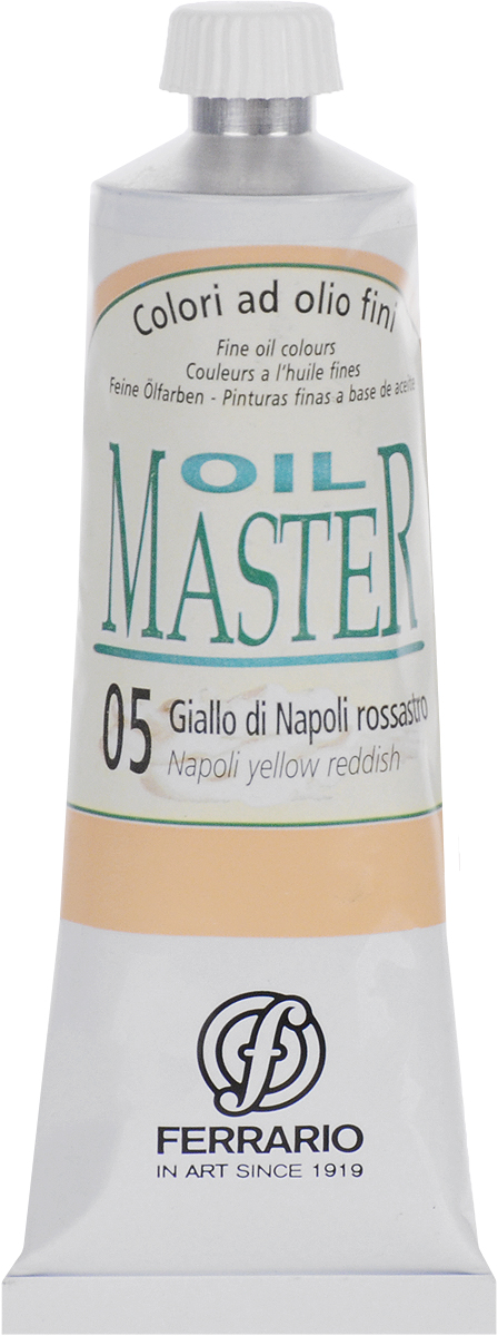 Ferrario Краска масляная Oil Master цвет №05 неаполитанский желтыйAM0030CO005Масло Oil Master итальянской компании Ferrario подходит как начинающим художникам, так и профессионалам. Краска изготавливается из светостойких пигментов мелкого помола. Благодаря тому, что некоторые натуральные пигменты были заменены на аналоги краски серии Oil Master стали более доступны по цене. Светостойкие краски отлично лессируются и хорошо смешиваются между собой. Краску можно разбавлять льняным маслом, терпентином или нефтяными разбавителями. В работе с красками используют кисти из щетины, синтетики и волоса колонка.