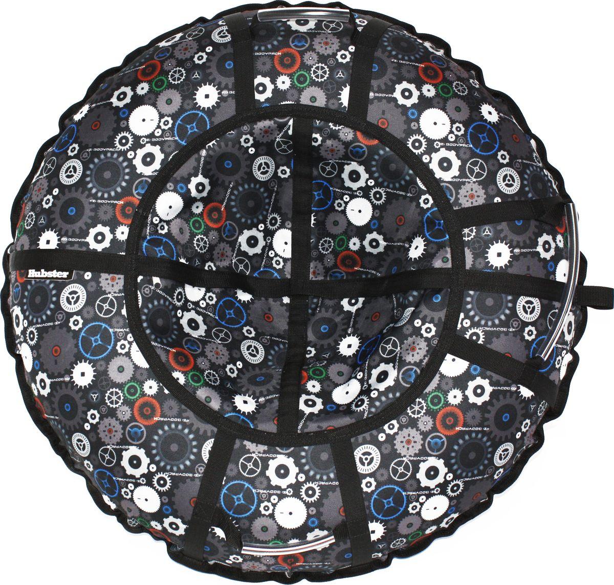 Тюбинг Hubster Люкс Pro. Техно, цвет: черный, серый, диаметр 90 смво4299-1
