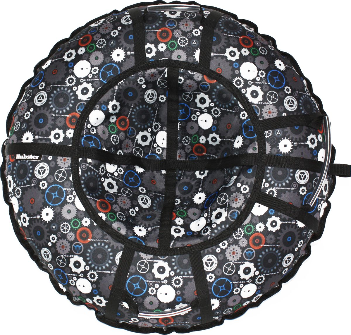 """Тюбинг Hubster """"Люкс Pro. Техно"""", цвет: черный, серый, диаметр 105 см"""