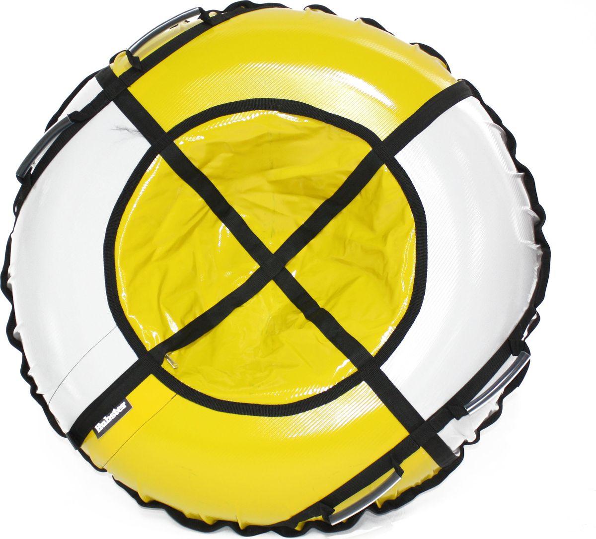 Тюбинг Hubster Sport Plus, цвет: серый, желтый, диаметр 120 смво4328-2Любимая детская зимняя забава - это кататься с горки. А катание на тюбинге надолго запомнится вам и вашим близким. Свежий воздух, веселая компания, веселые развлечения - эти моменты вы будете вспоминать еще долгое время. Материал верха - ПВХ армированный, плотность 650 г/м .Материал дна - ПВХ (усиленная скользкая ткань), плотность 650 г/м.Диаметр в сдутом виде - 120 см.Диаметр в надутом виде - 109 см.Ручки усиленные (нашиты на дополнительную стропу).Кол-во ручек - 4 шт. Молния скрытая, на сиденье.Крепление троса - наружная петля.Длина троса - 1 метр.Нагрузка - до 150 кг.Комплект поставки - ватрушка, трос, камера.Тюбинг не предназначен для буксировки механическими или транспортными средствами (подъемники, канатные дороги, лебедки, автомобиль, снегоход, квадроцикл и т.д.)