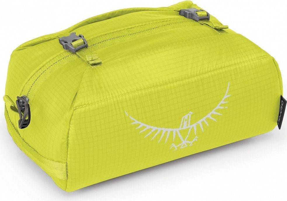 Косметичка Osprey Ultralight WashBag Padded, цвет: светло-зеленый00001043173Если вы отправились на вечернюю прогулку или в длительную экспедицию в Непал, суперлегкая косметичка сохранит ваши туалетные принадлежности в порядке. Изготовленная из прочного материала Ripstop nylon, Ultralight Washbag оснащена миниатюрной версией компрессионной системы StraightJacket, надежно фиксирующей содержимое косметички и позволяющей сократить ее объем до минимума. Имеет мягкое основное отделение. Благодаря светоотражающей графике и большой ручке, вы легко отыщите косметичку в своем рюкзаке. Светоотражающая графика Компрессионная система StraightJacket Карман из сетки на молнии для косметики или предметов личной гигиены Вес: 0.07 кг Максимальный размер: (см) 14 (длина) x 21 (ширина) x 13 (глубина)