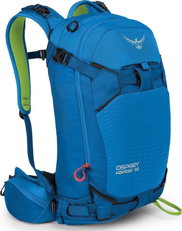 Рюкзак Osprey Kamber 32, цвет: голубой, 32 л. Размер M/L00001051398Рюкзак Kamber 32 созданный специально для райдеров, воплотил в себе все достоинства рюкзаков для фрирайда. Используя свой14 летний опыт в области конструирования лыжного снаряжения, Osprey разработали рюкзак с множеством технических характеристик. Спроектированный с умом, он обеспечивает оптимальную посадку и эргономичность. Занятие экстремальными зимними видами спорта подразумевает множество вертикальных подъемов. Именно поэтому в Kamber 32 предусмотрены разные типы крепления лыж: в форме А и по диагонали. А с помощью специальной компрессионной системы можно вертикально закрепить сноуборд или снегоступы на задней панели. Быстро убирающееся надежное крепление для шлема вы сможете по достоинству оценить во время долгих туров. Вещи можно разместить в двух легкодоступных основных отделениях: одно – для мокрого снаряжения, например, лопаты, щупа и лыжных камусов; другое – для запасной одежды и теплого головного убора. Внутренний термоизоляционный карман для питьевой трубки на лямке рюкзака предотвращает замерзание жидкости. В двух боковых карманах на молнии на поясном ремне удобно разместить мелкие вещи, которые должны быть всегда под рукой. Специальный защитный карман с подкладкой из микрофлиса для маски.Особенности: Вес: 1.54 кг Максимальный размер: (см) 56 (длина) x 30 (ширина) x 30 (глубина) Компрессионная прессованная задняя панель с покрытием, способствующим соскальзыванию снега Грудная стяжка с сигнальным свистком Фронтальная загрузка рюкзака на молнии Крепления для лыж по бокам и по диагонали на передней панели рюкзака Внутренний термоизоляционный карман для питьевой трубки на лямке рюкзака Удобный доступ ко внутренним отделениям через спинку рюкзака Специальное быстродоступное отделение для лавинного снаряжения с карманами для ручки лавинной лопаты и щупа Встроенный фиксатор для шлема в верхнем клапане рюкзака Износоустойчивое PU покрытие на передней панели Доступ к основному отделению со спины 