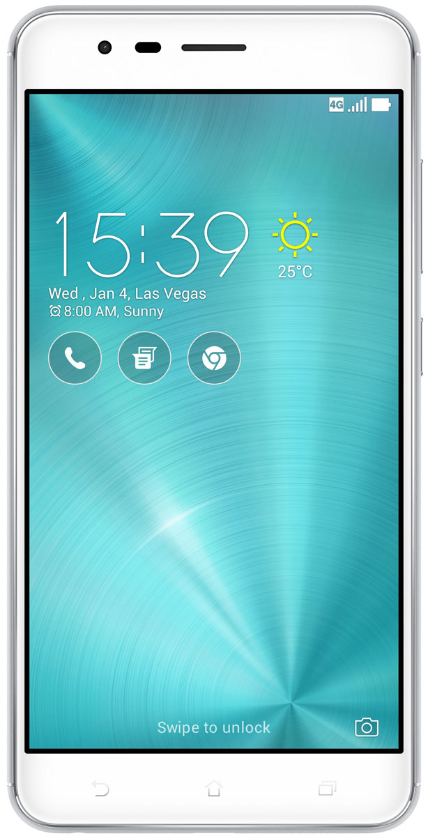 ASUS ZenFone 3 Zoom ZE553KL, Silver asus zenfone 3 zoom 64gb