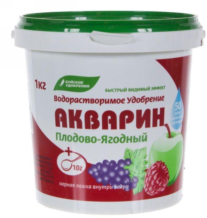 Удобрение комплексное Буйские Удобрения Акварин плодово-ягодный, 1 кг ому цветочное серия элит буйские удобрения 3кг