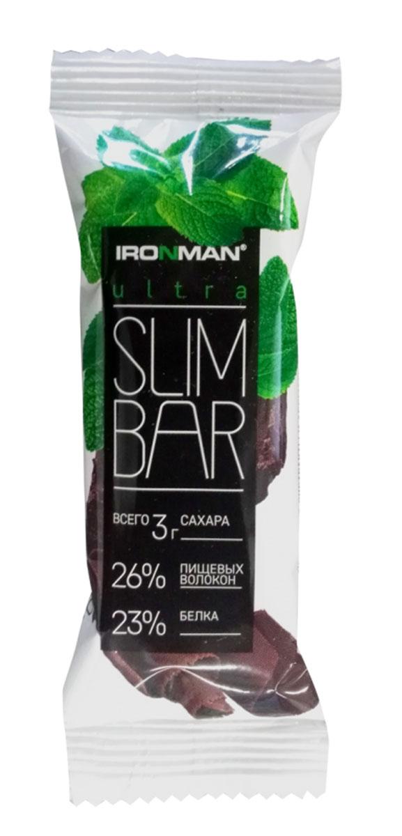 Батончик Ironman Ultra Slim Bar, мята, шоколад, темная глазурь, 40 г автомобильные ароматизаторы chupa chups ароматизатор воздуха chupa chups chp801