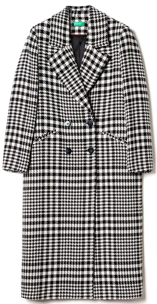 цена на Пальто женское United Colors of Benetton, цвет: серый. 2VE95K1P4_901. Размер 44 (46)